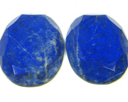 127.60 CTS LAPIS LAZULI OVAL FACETED STONES AG 1546