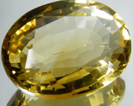 16.43 CTS CERT LARGE GOLDEN CITRINE GEMSTONE 0127