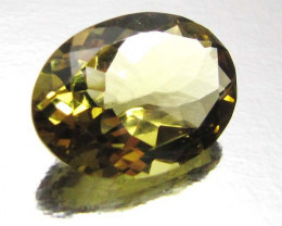 10.26 CTS CERTIFIED GOLDEN OLIVE YELLOW CITRINE 0709