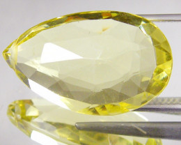 17.26 CTS CERT FACETED CITRINE GEMSTONE 0188