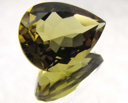 7.45 CTS CERTIFIED GOLDEN OLIVE YELLOW CITRINE  CTS 0492