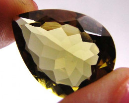 12.64 CTS CERTIFIED GOLDEN OLIVE YELLOW CITRINE  0490