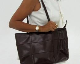 Gemstone Leather Like Brown Shoulder Bag OP 58