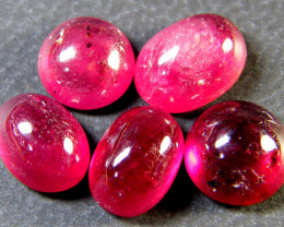 10 CTS VS GRADE PIGEON BLOOD RED RUBIES CABOCHON LOT RM 462