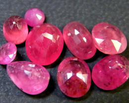 10 CTS LARGE EYE CLEAN SPARKLING RUBIES LOT RM 408