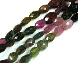 130.45 CTS CERT GEMSTONE WILD BEAD NECKLACE STRAND TO 168