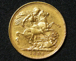 GOLD SOVEREIGN MELBOURNE MINT 1894 HIGH GRADE COIN CO7