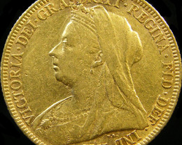 1896 QUEEN VICTORIA FULL GOLD SOVEREIGN CO 22