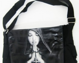 GOTHC PRAYER MESSENGER BAG  ANEE STOKES QT 553