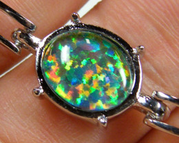 BEAUTIFUL IMO OPAL BRACELET WITH CZ  GTT 1004