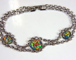 BEAUTIFUL IMO OPAL BRACELET WITH CZ GTT 1018
