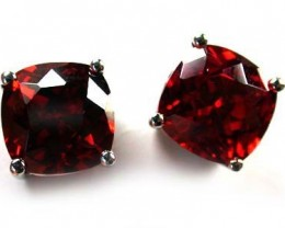 MODERN IMPRESSIVE RUBY LIKE STERLING SILVER EARRINGS AAA608