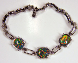 BEAUTIFUL IMO OPAL BRACELET WITH CZ GTT 1010