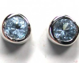 STERLING SILVER EAR RING WITH STONE   G1667
