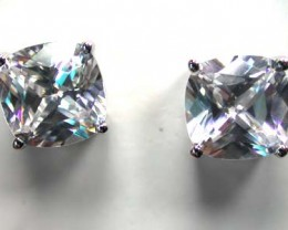 STERLING SILVER EAR RING WITH STONE   G1674