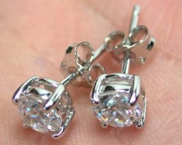 STERLING SILVER EAR RING WITH STONE   G1680