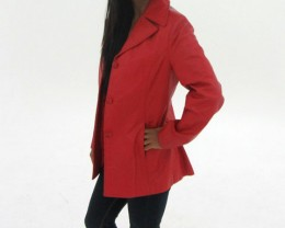 Size S Quality New Red Lamb Leather Jacket  OP14