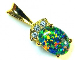 BEAUTIFUL BRIGHT  OPAL PENDANT      ML558