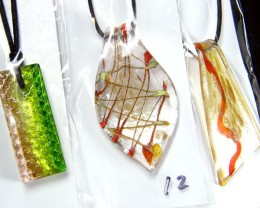PARCEL THREE VENETIAN GLASS PENDANTS GTT 738