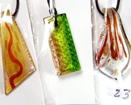 PARCEL THREE VENETIAN GLASS PENDANTS GTT 739