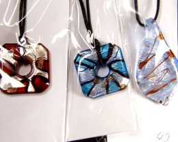 PARCEL THREE VENETIAN GLASS PENDANTS GTT 751