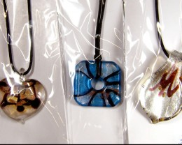 PARCEL THREE VENETIAN GLASS PENDANTS GTT 764