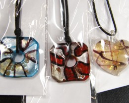 PARCEL THREE VENETIAN GLASS PENDANTS GTT 767