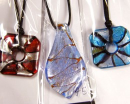 PARCEL THREE VENETIAN GLASS PENDANTS GTT 773