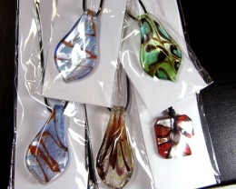 PARCEL FIVE VENETIAN GLASS PENDANTS GTT 774