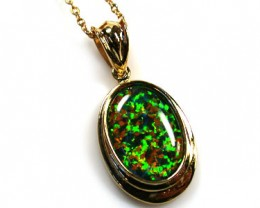 BEAUTIFUL MAN MADE GEM OPAL PENDANT ML533