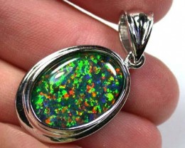 BEAUTIFUL MAN MADE GEM OPAL PENDANT ML538