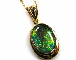 BEAUTIFUL MAN MADE GEM OPAL PENDANT ML535