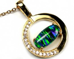POPULAR FASHION OPAL PENDANTS RHODIUM  PLATED SCA 549 ML