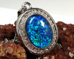 ATTRACTIVE MAN MADE OPAL PENDANT CSS 100