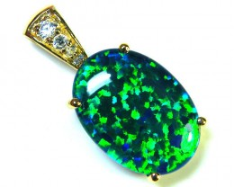 BEAUTIFUL BRIGHT  OPAL PENDANT      ML546