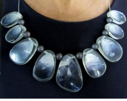 UNIQUE BLACK SHELL STYLE  NECKLACE    QT117