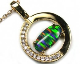 POPULAR FASHION OPAL PENDANTS RHODIUM PLATED MYJA 905