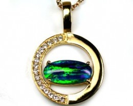 POPULAR FASHION OPAL PENDANTS RHODIUM PLATED MYJA 922