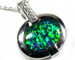 POPULAR FASHION OPAL PENDANTS RHODIUM PLATED MYJA 925