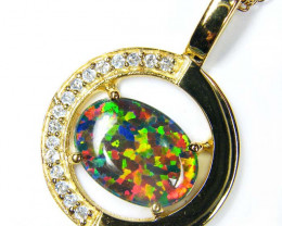 BEAUTIFUL FASHION OPAL PENDANT  MYJA 972