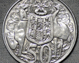 One 1966 fifty cents  silver coin 80% silver   CP 420-No Buyers Premium