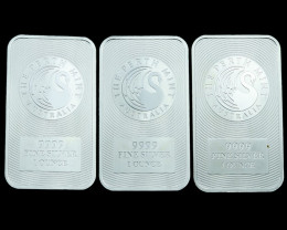 Silver. 9999 Perth Mint kangaroo bar  Three bars