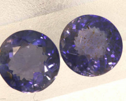 1.51CTS -IOLITE FACETED GEMSTONE  PAIR RJA-912