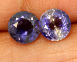 1.32CTS -IOLITE FACETED GEMSTONE  PAIR RJA-915