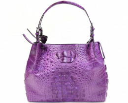 HORNBACK CROCODILE LEATHER BAG #purple