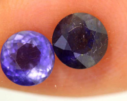 1.26CTS -IOLITE FACETED GEMSTONE  PAIR RJA-929