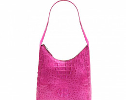 CROCODILE LEATHER BAG #pink