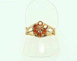 Gold Garnet Rings