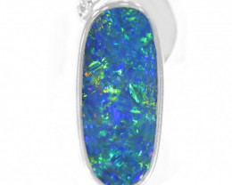 925 ST/ SILVER RHODIUM PLATED OPAL DOUBLET PENDANT [TP34 ]