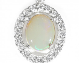 925 ST/ SILVER RHODIUM PLATED OPAL COOBER PEDY  PENDANT [TP31 ]